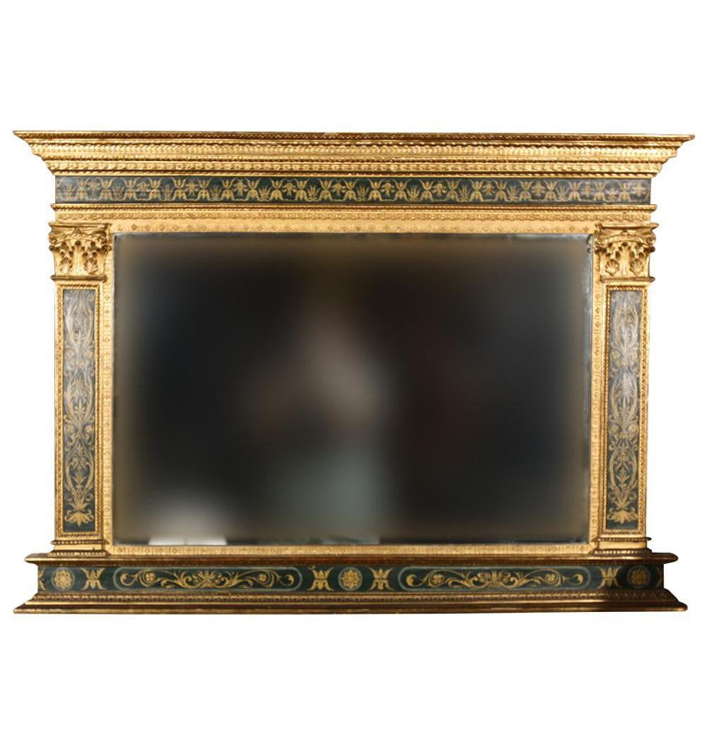 Neoclassical Overmantle Mirror