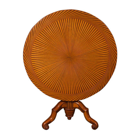 Parquetry Tilt Top Tea Table