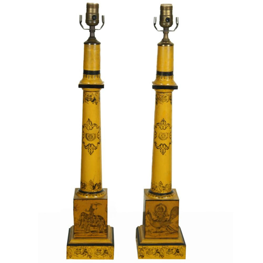 Pair of Tole Lamps