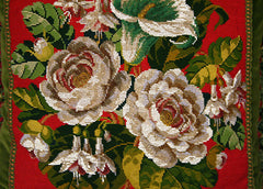 Victorian Beaded Floral Pillow