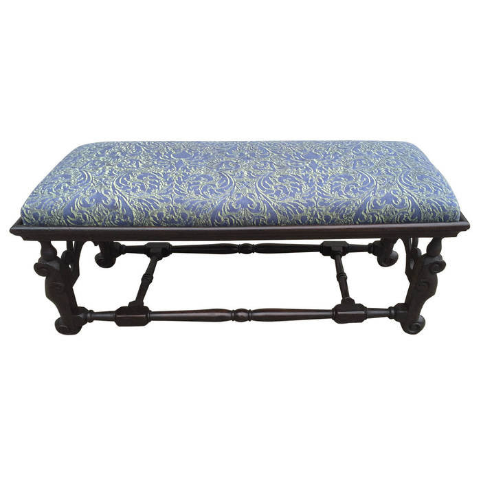 William & Mary English Walnut Bench