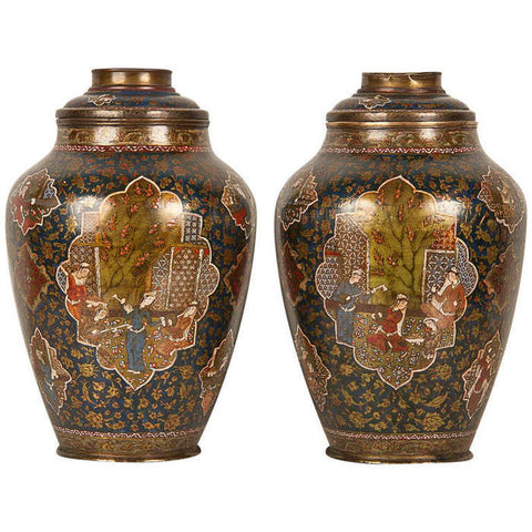 Persian Painted Oil Lamps