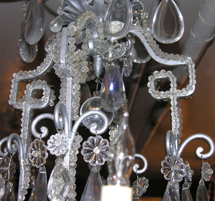 Neo Classic 8 Light Crystal Chandelier
