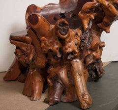 Asian Burled Wood or Root Chair
