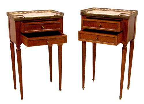 French Side Tables - Pair