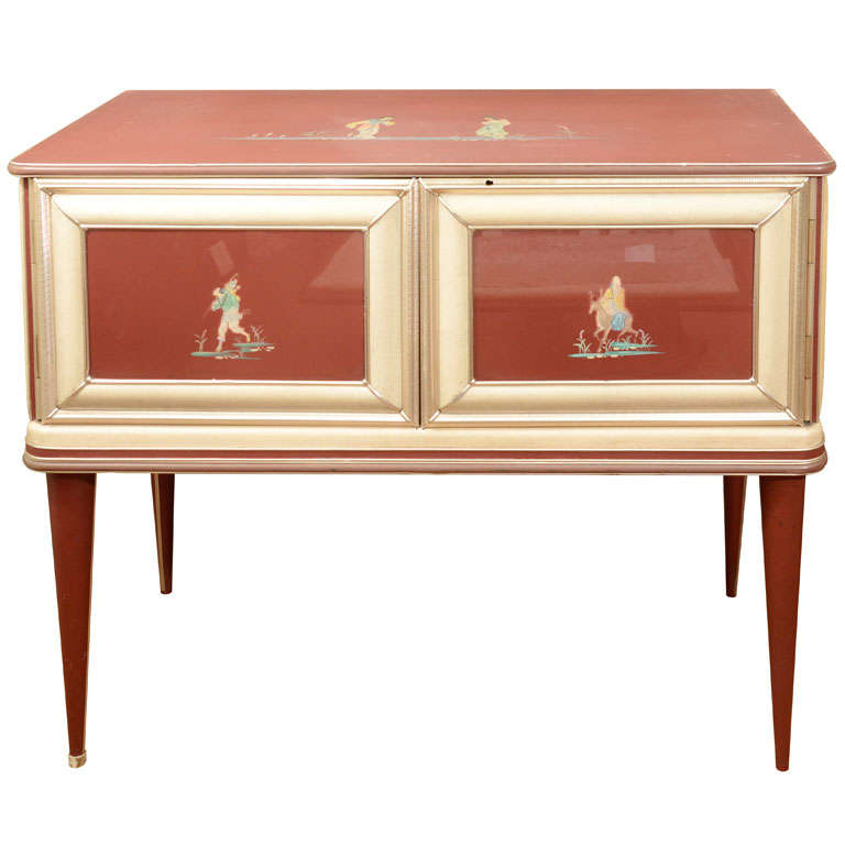 Modernist Chinoiserie Sideboard by Umberto Mascagni