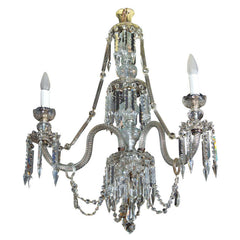 Georgian Style Three-Light Chandelier
