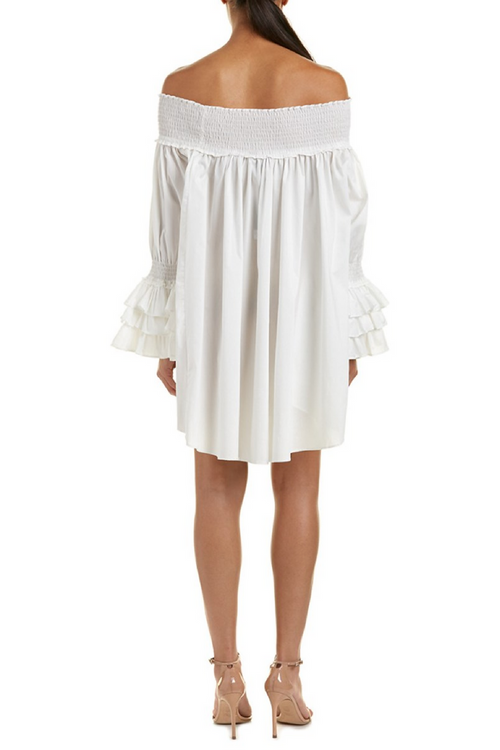 Nori Off the ShoulderS Tunic Ruffles Dress