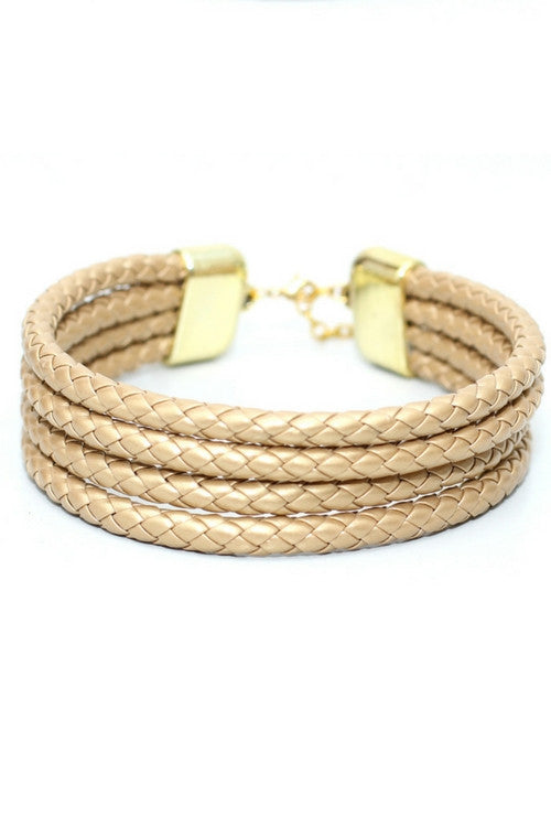 Blue kOkO Golden Ropes Chocker - Preciosa Boutique