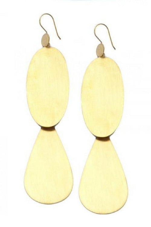 Candelaria Brushed Earings Gold - Preciosa Boutique