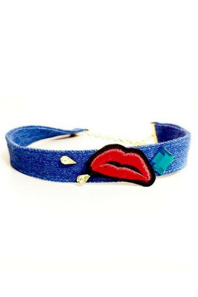 Blue kOkO Kiss Me Blue Chocker - Preciosa Boutique