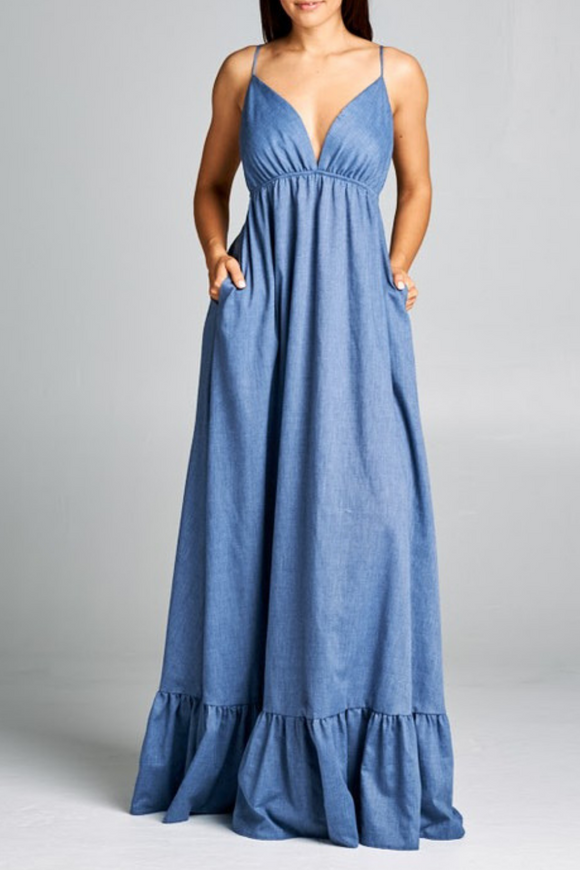 AG Studio Denim Maxi Dress, Casual Maxi Dress