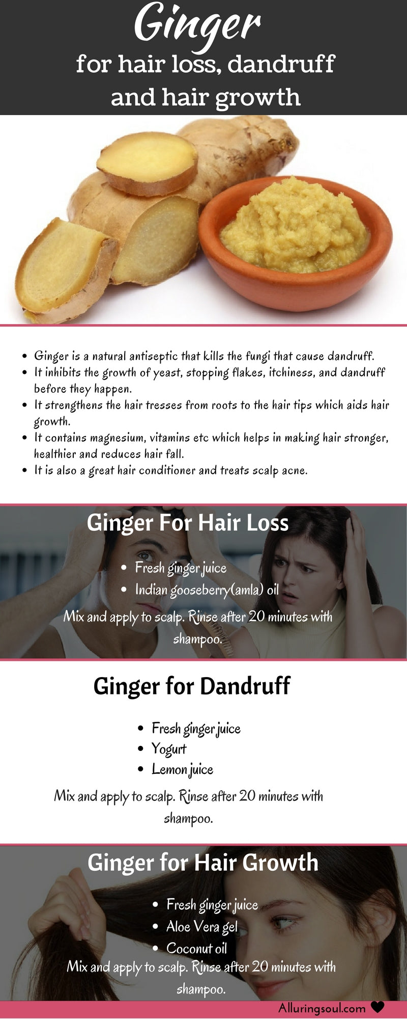 Ginger For Hair Growth Benefits