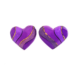 Large Studs - purple heart