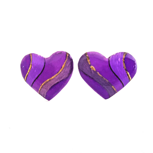 Medium Studs - purple heart