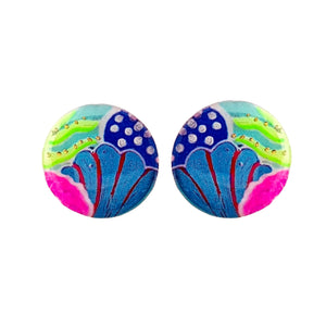 Large Round Studs - Under the Sea