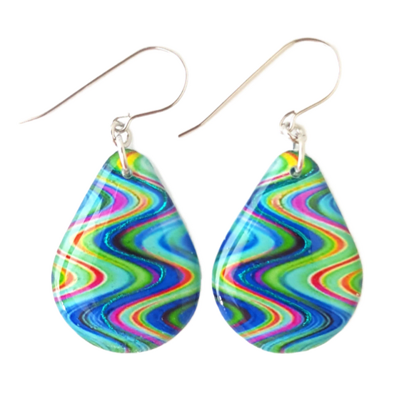 Teardrop Earrings | Cool Waters | CHOOSE COLOUR