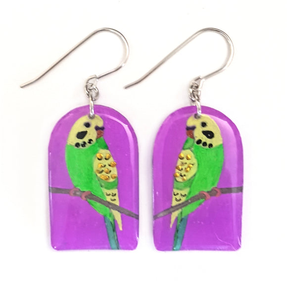 Budgie Arched Drop Earrings | 2 COLOURS