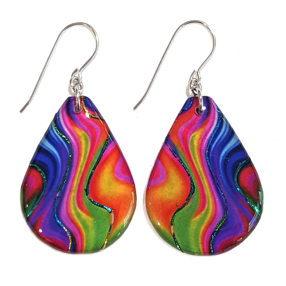 Rainbow Teardrop Earrings