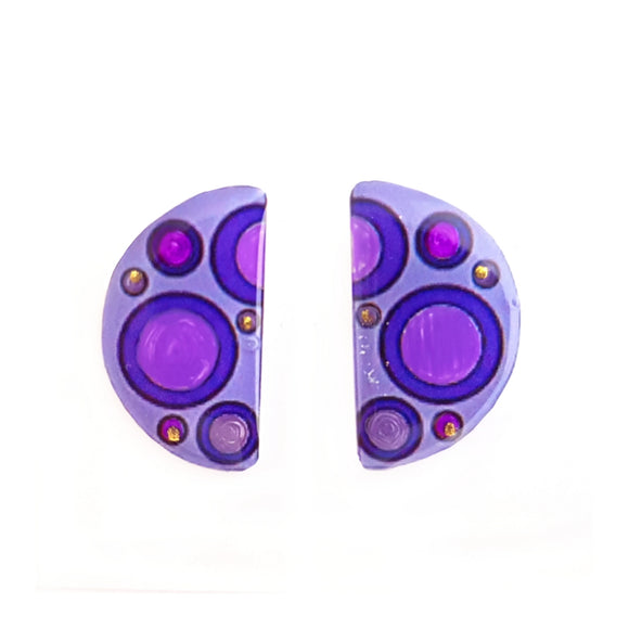 Medium studs - half circle purple