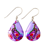 Resin Pour Teardrop Earrings | CHOOSE COLOUR