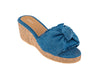 The Denim Ties Wedge sandals
