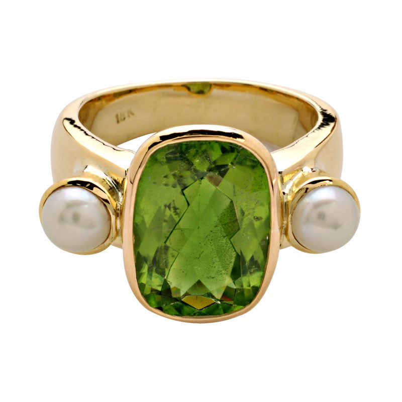 Ring-Pearl and Peridot