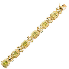 Bracelet-Lemon Quartz and Peridot