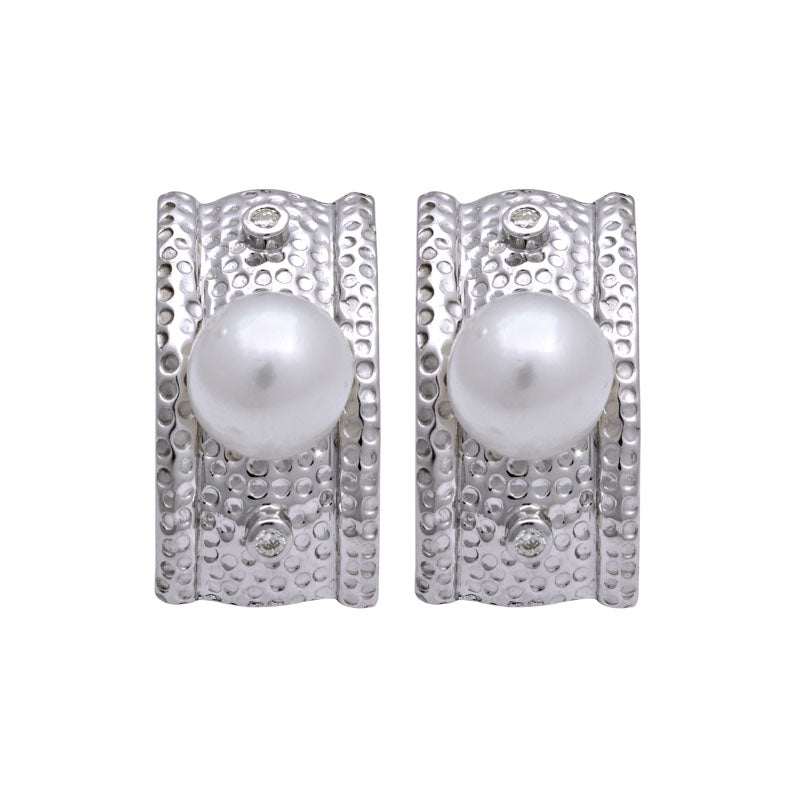 Earrings-South Sea Pearl and Diamond