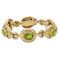 Bracelet-Peridot and Diamond