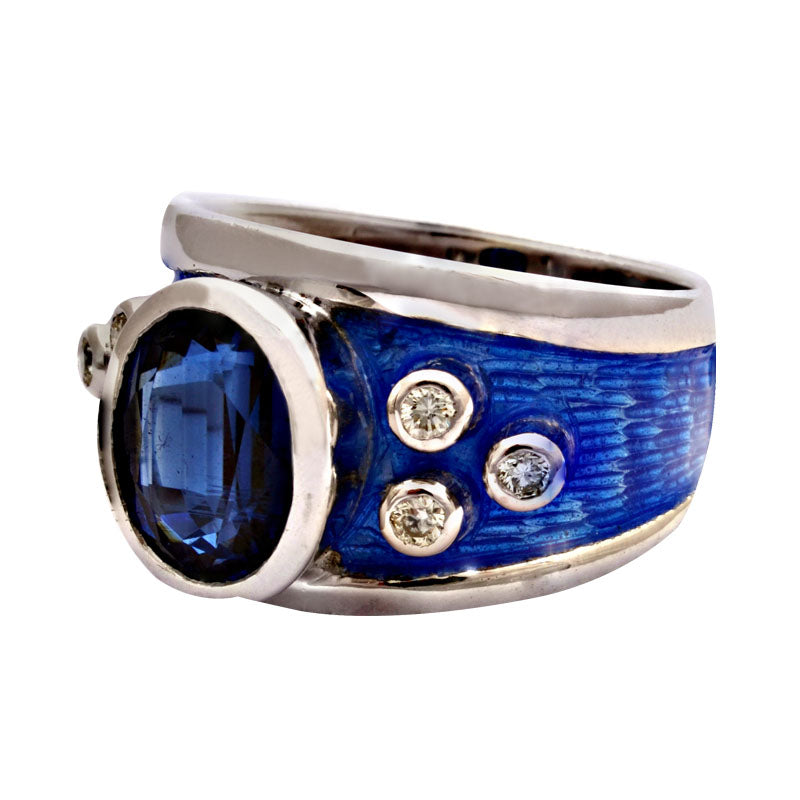 Ring-Kyanite and Diamond (Enamel)