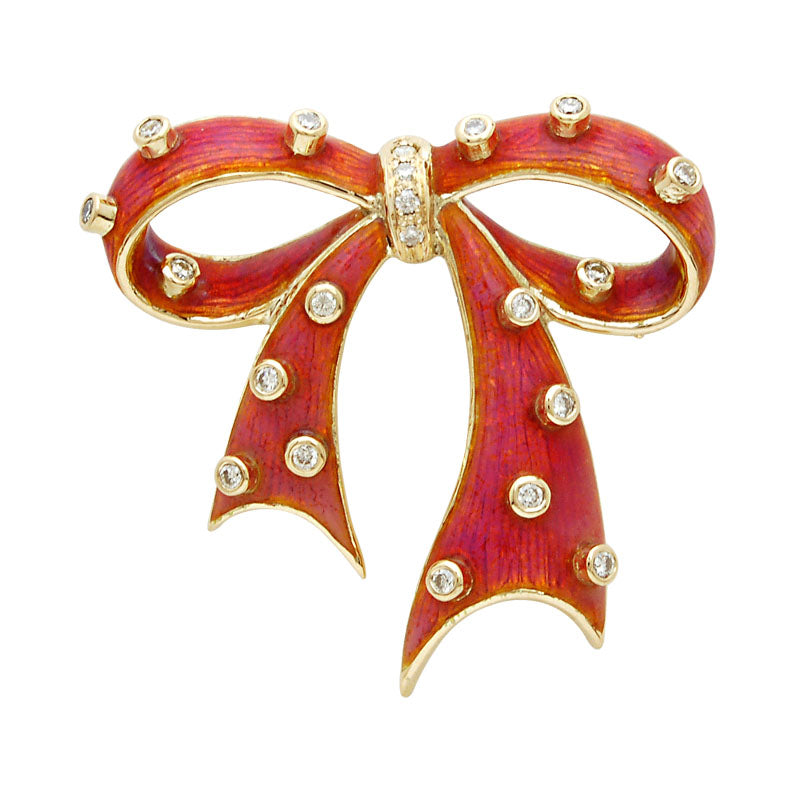 Brooch-Diamond (Enamel)