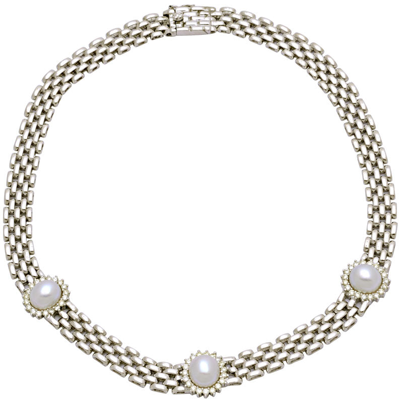 Necklace-South Sea Pearl and Diamond