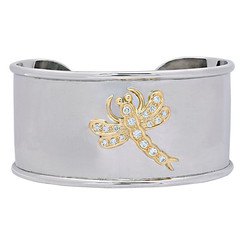 Cuff Bangle- Diamond