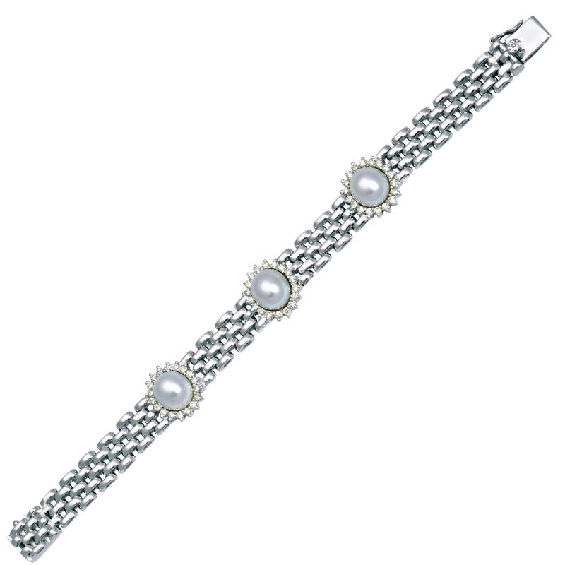 Bracelet-South Sea Pearl and Diamond