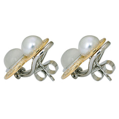 Earrings- Moonstone, South Sea Pearl and Diamond