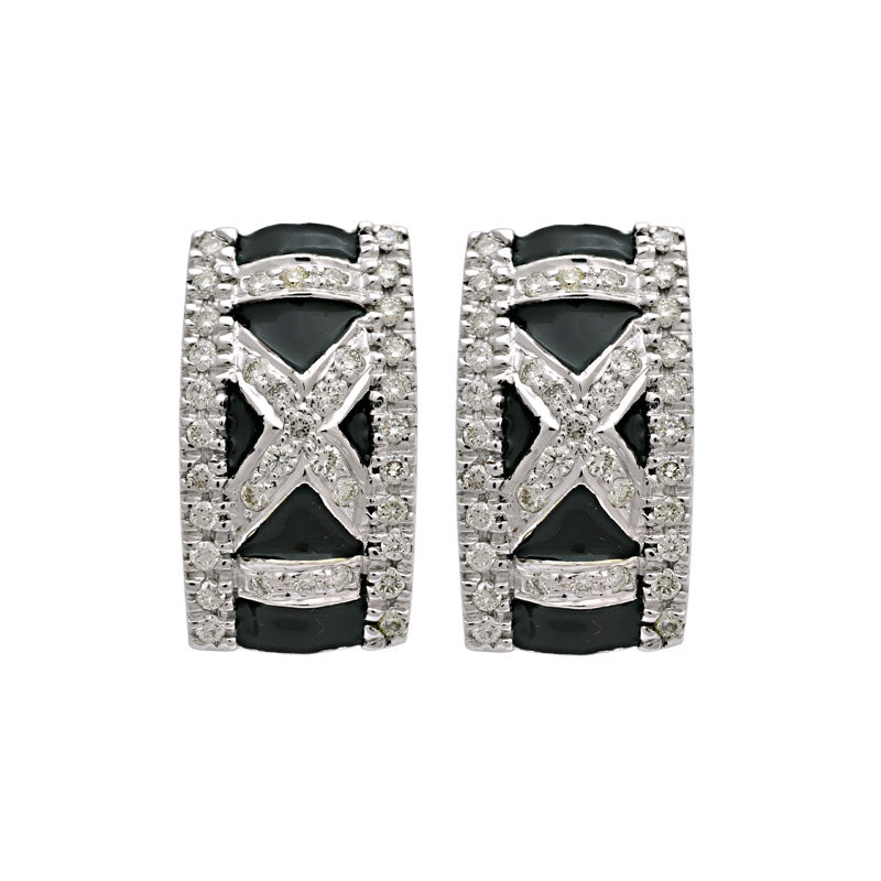 Earrings-Diamond (Enamel)
