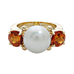 Ring-Pearl and Citrine
