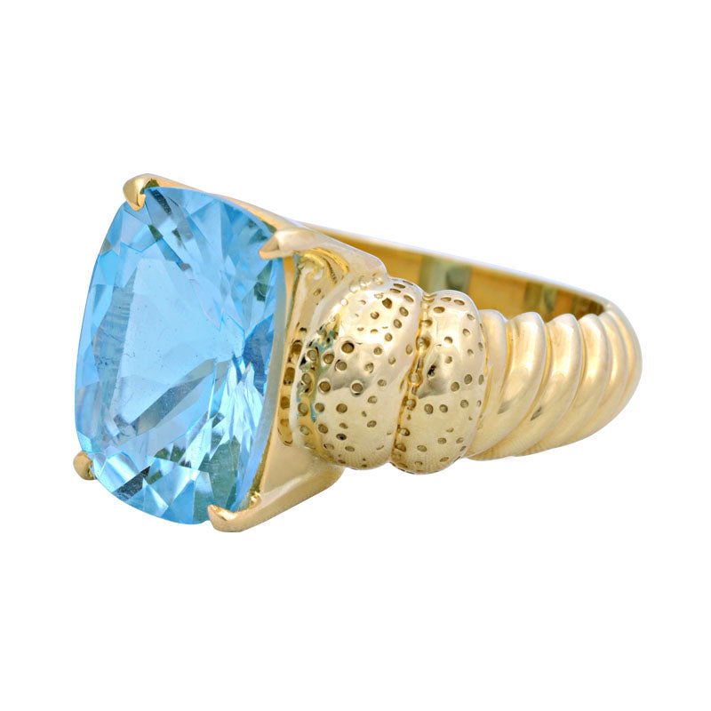 Ring-Blue Topaz