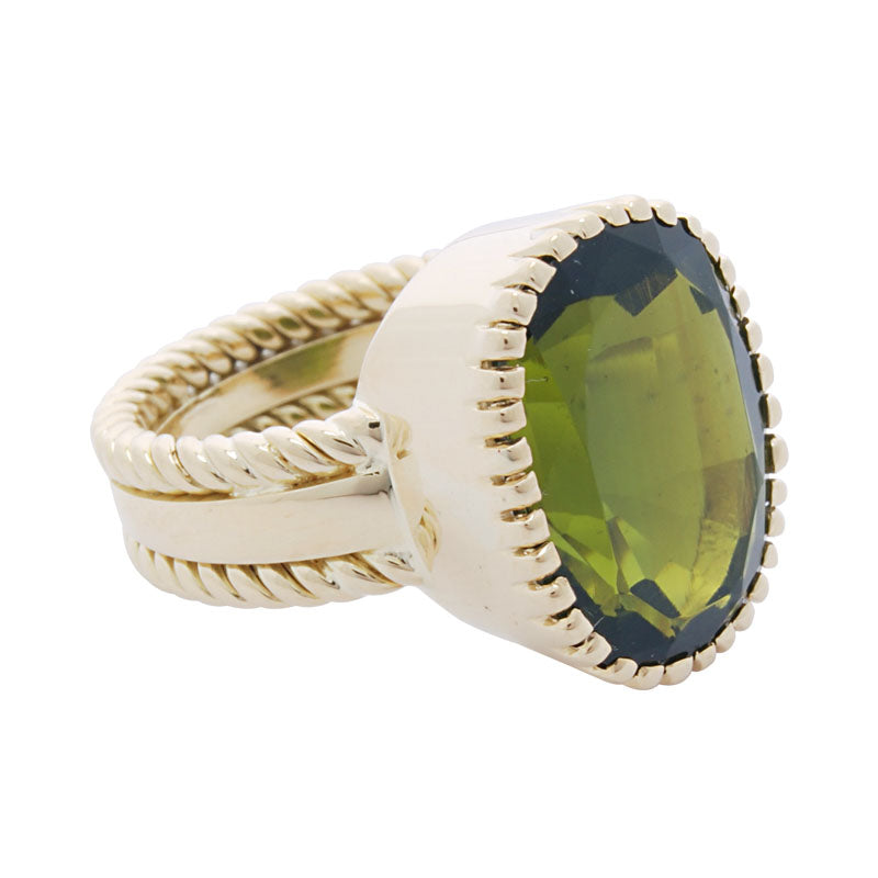 Ring-Green Tourmaline