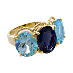 Ring-Blue Topaz and Iolite