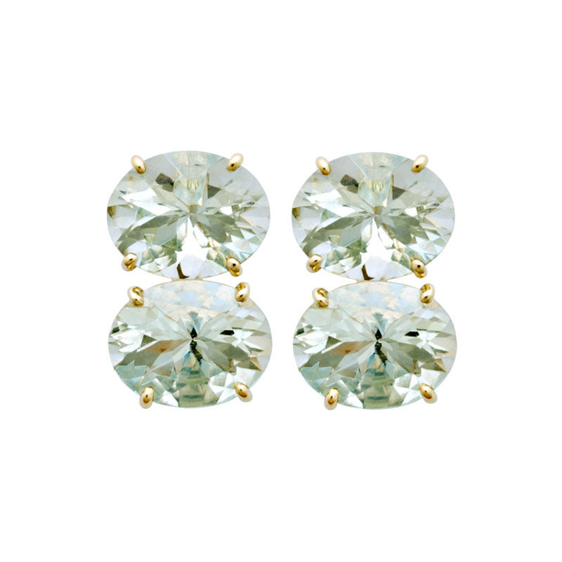 Earrings-Green Quartz