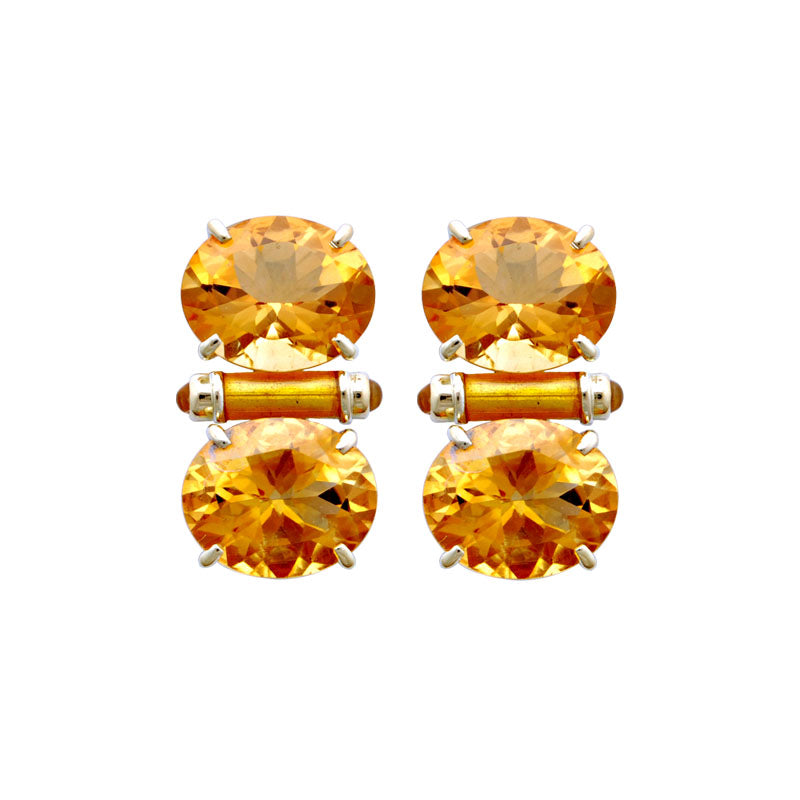 Earrings-Citrine (Enamel)