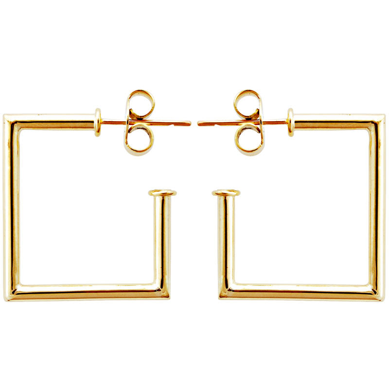 Earrings-Plain Gold