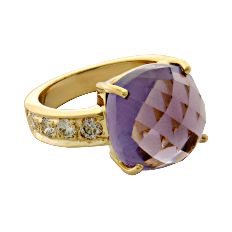 Ring-Amethyst and Diamond