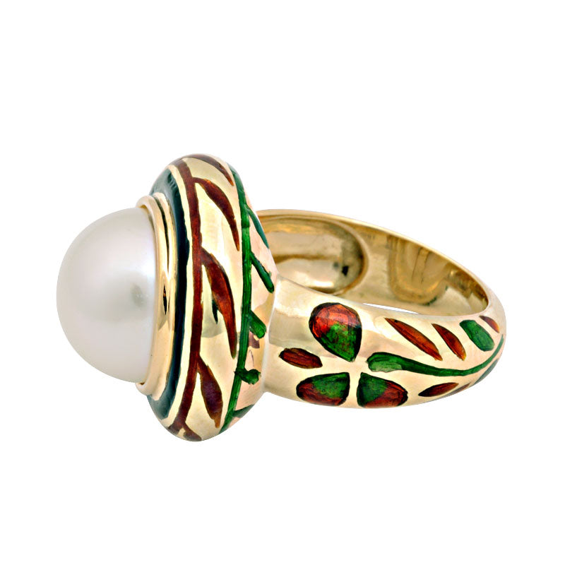 Ring-South Sea Pearl (Enamel)