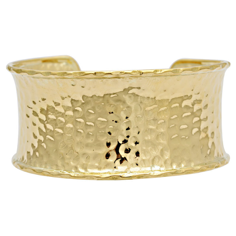 Cuff Bangle-Plain Gold