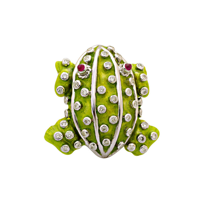Brooch-Ruby and Diamond (Enamel)
