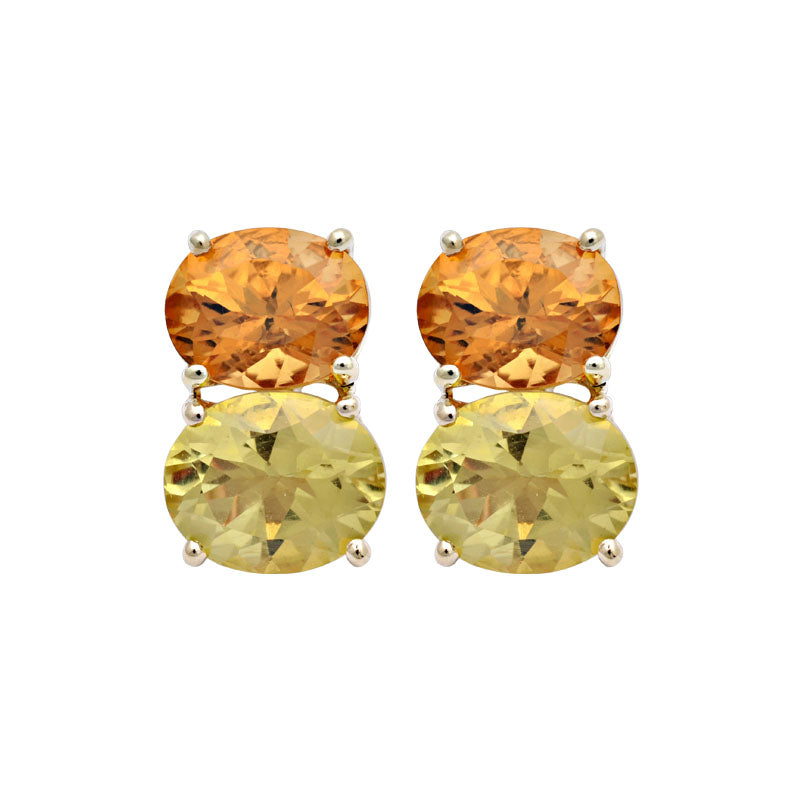 Earrings-Lemon Quartz and Citrine