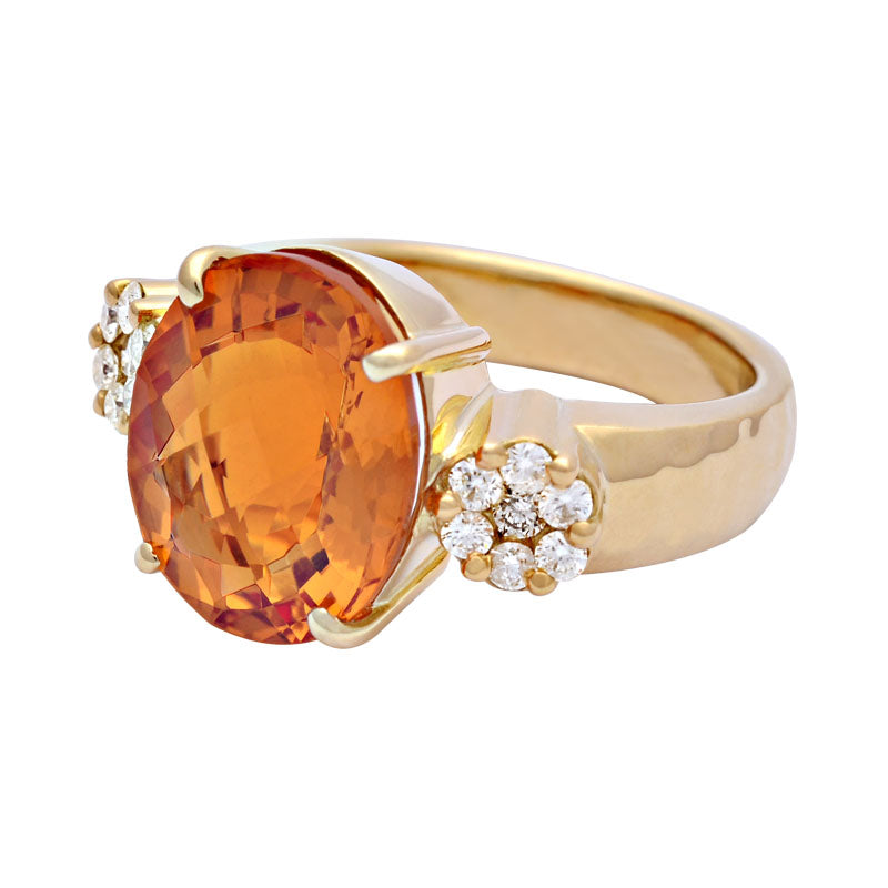 Ring-Citrine and Diamond